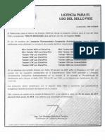 Certificado de Focos Phillips161