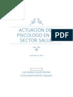 Actuaciòn Del Psicologo en El Sector Salud Ensayo Segundo Parcial