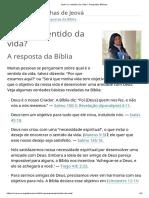Qual é o Sentido Da Vida_ _ Perguntas Bíblicas