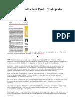 Editorial Da Folha de S