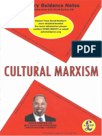 Cautionary Guidance Notes Cultural Marxism