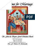 Wedding Guidelines at St. John the Baptist Orthodox Church