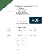 Métodos Numéricos para Álgebra Linear