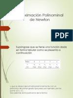 Aproximación Polinominal de Newton