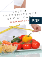 Jejum Intermitente e Dieta Low Carb Para Emagrecer - eBook Oficial