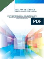 Organizacion de Eventos - Guia Metodológica Del Estudiante