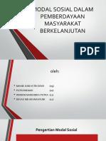 MODAL SOSIAL DALAM PEMBERDAYAAN MASYARAKAT BERKELANJUTAN.pptx