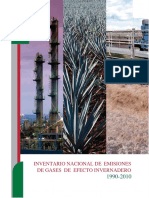 Inventario Nacional de Emisiones de Gases de Efecto Invernadero 1990 - 2010