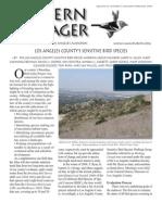 January-February 2009 Western Tanager Newsletter - Los Angeles Audubon