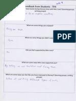 student feedback 3