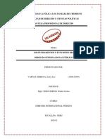 Los Fundamentos y Funciones Del Derecho Internacional Publico
