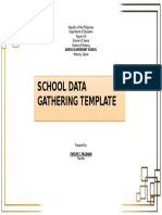 Cover (School Data Gathering Template)