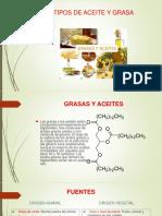 Tipos de Aceite y Grasa