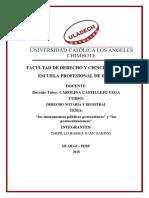 """Los Instrumentos Públicos Protocolares"""" y """"Las Protocolizaciones (1)"""