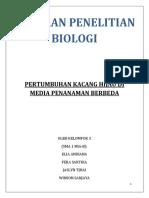LAPORAN PENELITIAN BIOLOGI