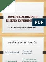 INVESTIGACIONES DE DISEÑO EXPERIMENTAL