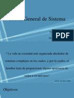 Presentación de La Teoría General de Sistemas