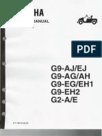 Yamaha Service Manual G2-G9