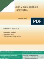 Unidad Seis. Evaluación Social de Un Proyecto-