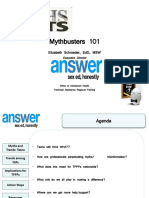 Paftraining Myths