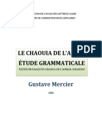 Etudes Grammaticales Du Chaouia