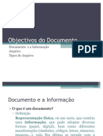 Objectivos Do Documento