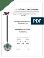 SUPERVISIÓN Y RESIDENCIA DE UNA OBRA ELECTRICA