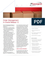 Order Management in Oracle Release 12