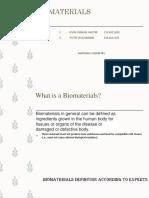 BIOMATERIALS ppt