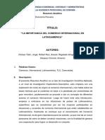 Resumen Analíco Comercio Internacional