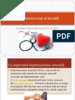 Hipertensiunea arterială