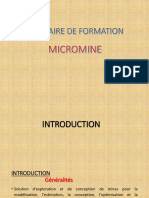 Micromine Formation 1