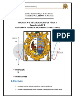 Física 2 Informe 2 movimiento vibratorio