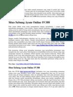 Situs Sabung Ayam Online SV388