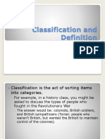 Classification and Definition Powerpoint