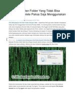 Punya File Dan Folder Yang Tidak Bisa Dihapus
