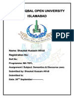 Semantics and Discourse Analysis (5666)