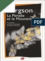 Notes Sur l'Oeuvre de Bergson