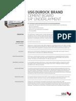 Durock Cement Underlayment Board Submittal en CB250