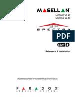 Paradox SP5500, SP6000, SP7000 & Magellan MG5000, MG5050 Programming/Reference Manual