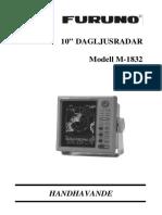 Radar Furuno M-1832 Manual (Svensk)