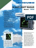 Radar Furuno M-1832 Broschyr