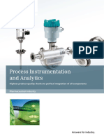 Instrumentation in Pharmaceuticals