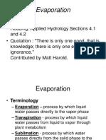 Evaporation S1