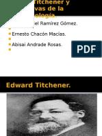 Edward Titchener y alternativas de la fenomenología