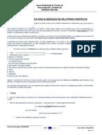 Guião de Orientação Para Elaboração de Relatórios Científicos