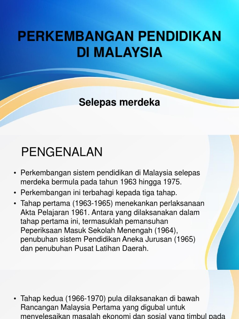 Perkembangan Pendidikan Malaysia Ppt Download