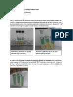 Resultados de Determinacion de Coliformes Totales y Fecales