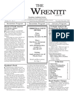 November-December 2004 Wrentit Newsletter ~ Pasadena Audubon Society