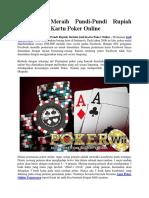 Mudahnya Meraih Pundi-Pundi Rupiah Melalui Judi Kartu Poker Online